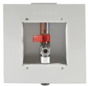 Guy Gray™ Guy Gray™ 3-3/4 x 3-3/4 in. Dishwasher Outlet Box with 1/2 in. Sweat x 3/8 in. Outlet and Quarter Turn Arrester Valve I87939