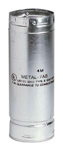 Metal Fab SureLock™ 4 in. X 24 in. Type B Gas Vent Pipe M4M24