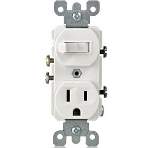 Leviton 1-Pole Switch and Grounded Receptacle in White L5225W