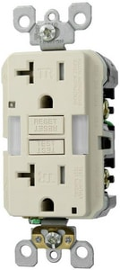 Leviton 20A GFCI Tamper Resistant Receptacle with Guide in Light Almond LX7892T