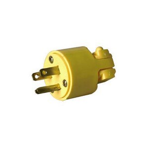 Coleman Cable Systems 15 Amp Large Dead Front Male Cap in Yellow S059840000