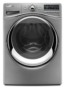 Whirlpool Duet® 27 in. 4.3 cf 10-Cycle Front Load Washer in Lunar Silver WWFW94HEXL
