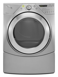 Whirlpool Duet® 27 in. 7.2 cf 240V 12-Cycle Electric Steam Dryer in Lunar Silver WWED9550WL