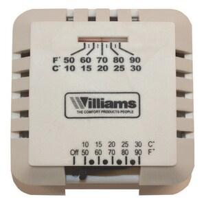 Williams Furnace MV Wall Thermostat WP322016