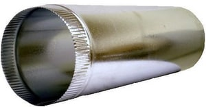 Snappy 3 in. x 2 ft. 28 ga Galvanized Round Pipe SNA1028