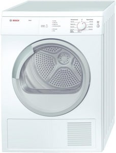 Bosch Axxis 3.9 cf 4-Cycle Electric Dryer in White BWTV76100US