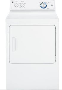 General Electric Appliances 27 in. 6-Cycle Gas Dryer in White GGTDX180GDWW