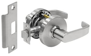 Sargent Manufacturing Company 7 Line® Lever with Cylinder in Satin Chrome S287ULL26D