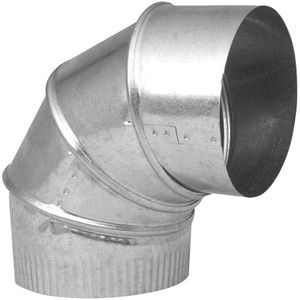 Northwest Metal Products 12 in. 26 Gauge Galvanized 90 Adjustable Elbow N144031