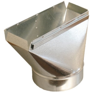 Royal Metal Products 3-1/4 x 12 x 8 in. Straight Boot Galvanized Steel and Zinc Coated Steel 30 ga R2313128
