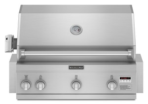 Kitchenaid 36 In Built In Grill With Sear In Stainless