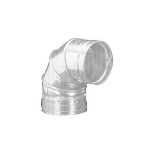 Hart & Cooley 6 in. Aluminum and Galvanized Steel Gas Vent Adjustable Elbow H6REA90