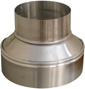Royal Metal Products 14 in. x 10 in. 26 ga Galvanized No-Crimp Duct Reducer R2651410