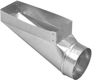Royal Metal Products 4 x 12 x 8 in. Center Galvanized Steel End Boot R2444128
