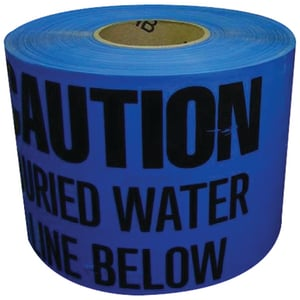 T. Christy Enterprises 3 in. x 1000 ft. Non-detectable Water Tape in Blue CTAND3BW