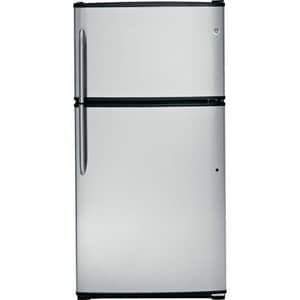 General Electric Appliances 21 CF 32-1/2 in. Top-Freezer Refrigerator in Stainless Steel GGTZ21GCESS