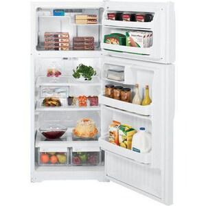 General Electric Appliances 28 in. 16.5 cf Top Freezer Refrigerator in White GGTH17GBEWW