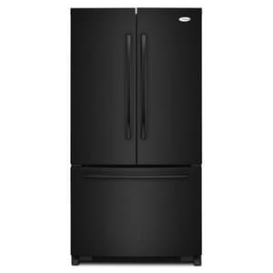 Whirlpool 35-5/8 in. 24.8 cf French Door Refrigerator in Black WGX5FHDXVB