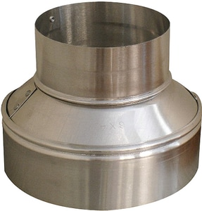 Royal Metal Products 10 in. x 7 in. 26 ga Galvanized No-Crimp Duct Reducer R26510
