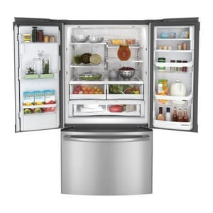 General Electric Appliances 29 CF French Door Refrigerator Profile in Stainless Steel GPFE29PSDSS