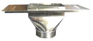 6 x 12 x 8 in. Straight Boot Galvanized Steel 30 ga SHMSRB26BFU12X