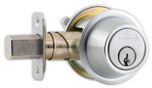 Schlage Lock Single Cylinder Deadbolt in Satin Chrome SCH123797