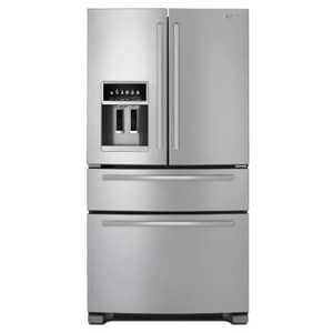 Jennair 25 CF French-Door Refrigerator With Third Drawer in Euro-Style Stainless JJFX2597AEM