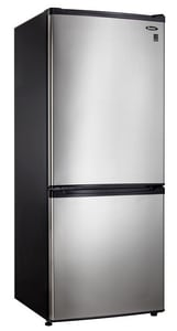Danby Products Danby® 23-13/16 in. 9.2 cf Double Door Refrigerator with Bottom Mount Freezer in Stainless Steel DDFF261BLSDB