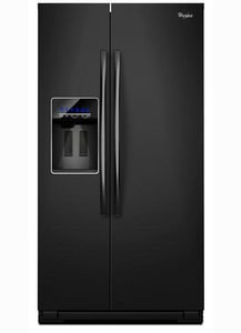 Whirlpool 35-7/16 in. 26.4 cf Side-By-Side Refrigerator in Black WGSF26C4EXB