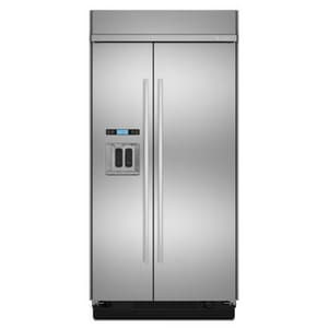 Jennair 42 in. Built-In Side-By-Side Refrigerator With Dispenser in Euro-Style Stainless JJS42SEDUDW