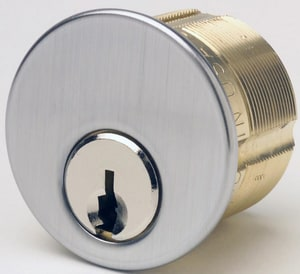 Kaba Ilco Schlage® 1-1/8 in. Brass Mortise Cylinder in Satin Chrome I7185SC126DKD