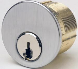 Kaba Ilco 1-1/8 in. Brass Mortise Cylinder in Satin Chrome I7185KSD