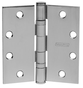 McKinney Products Company 4-1/2 x 4-1/2 in. Plain Bearing Hinge in Brass M76344