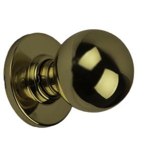 Schlage Lock Orbit Metal Privacy or Bed or Bath Lock in Brass SCH988457