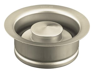 Kohler Disposal Flange with Stopper for 4-1/2 in. Garbage Disposal in Brushed Nickel K11352-BN