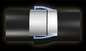 American Cast Iron Pipe 20 ft. CL50 Fastite Ductile Iron Ceramic Epoxy Lined Pipe AFT50PP4