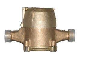 Infinity Metering 5/8 x 3/4 in. Brass Bottom Water Meter with Brass Top IPD07GBBCZ