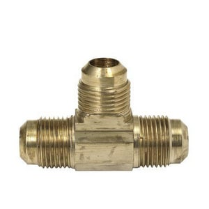 Brass Craft 44 Series 1/2 in. OD Tube Brass Flare Tee with Nut B448WN
