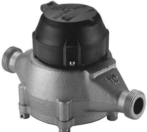 Badger Meter Recordall® 3/4 x 7-1/2 in. Spud Thread x MNPT Cast Bronze Water Meter BM35
