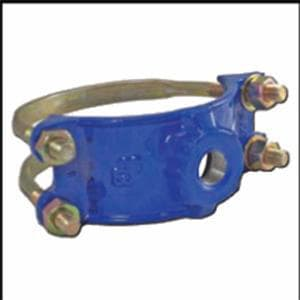 Smith Blair Inc 4 x 1 in. IP Ductile Iron Double Strap Saddle S31300048008000