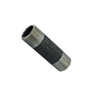 1/2 x 4 in. Plain End x Threaded Extra Heavy Seamless Black Carbon Steel Nipple BXSNPXTDP