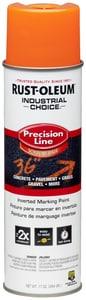 Rust-Oleum® Precision Line® 17 oz. Fluorescent Orange Inverted Solvent-Based Marking Spray Paint R203027 at Pollardwater
