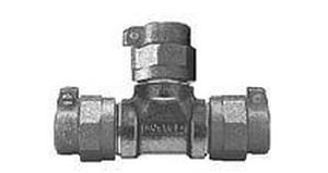 Mueller Company 3/4 x 3/4 x 1 in. CTS Pack Joint Water Service Brass Reducing Tee MP15381NFFG