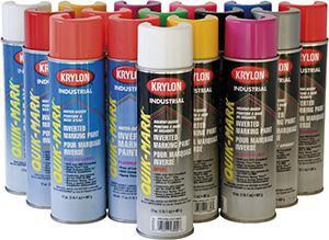Krylon Quik-Mark™ 20 oz. Inverted Solvent-Based APWA Marking Spray Paint in White KS03