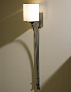 Hubbardton Forge Formae 29-1/2 in. 1-Light Wall Sconce with Stone Glass Shade H204670H169