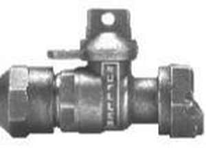 Mueller Company 5/8 x 3/4 in. CTS Compression Nut Ball Valve with Reduced Port Lockwing MB24350NEFG