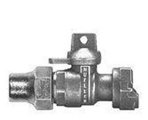 Mueller Company 3/4 in. Flared x Meter Swivel Ball Valve with Lock Wing MB24352NF