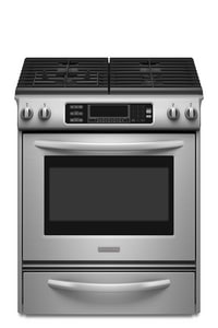 Kitchenaid Architect® 30 in. Convection Slide-In Gas Range in Stainless Steel KKGSS907SSS