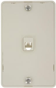 Leviton Decora® Telephone Wall Phone Jack in Light Almond with Screw Terminal L40914T