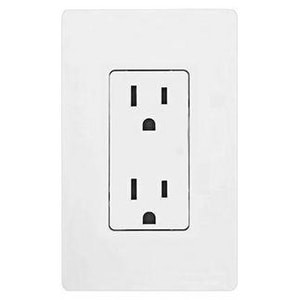 Lutron Electronics Claro® 15A 125V Receptacle in White LCAR15HWH